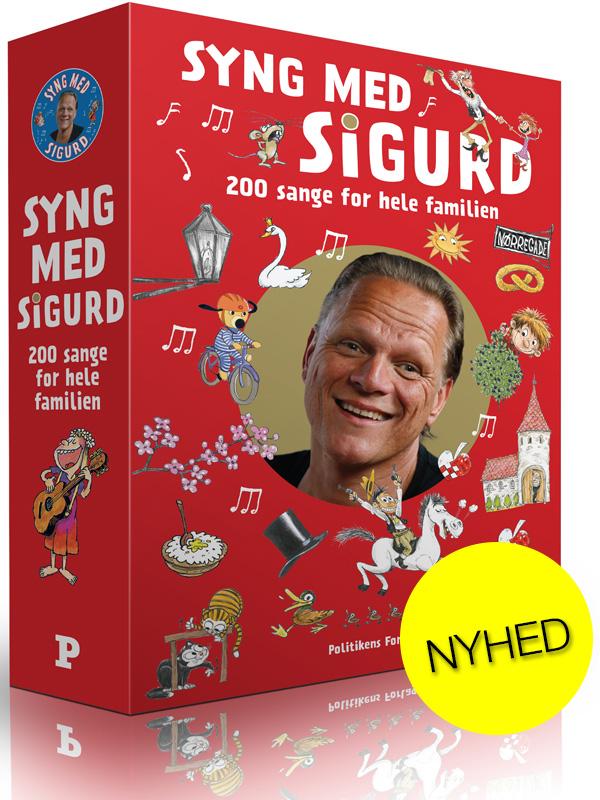 Syng med Sigurd - to sangbøger i flot samlekassette - NYHED