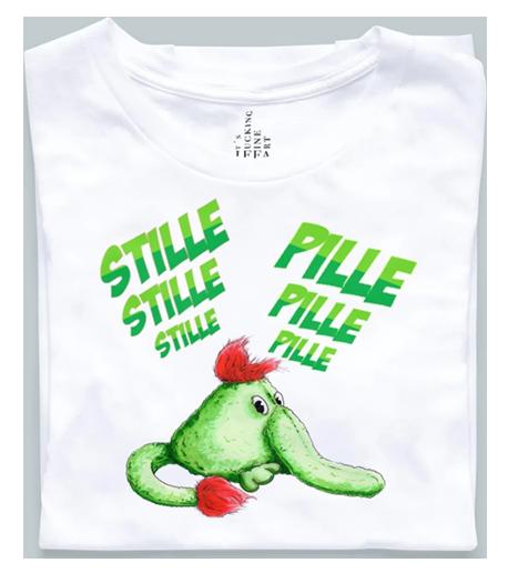 T-shirt med grøn pilfinger